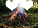 feu de bois-deux coeurs