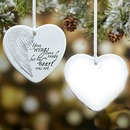 Christmas Heart Ornament From Heaven