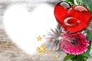 türk bayrağı. kalp