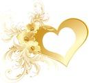 gold coeur