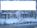 neige à l'étang