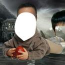 ребёнок с яблаком