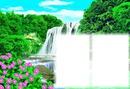 vízesés táj 2 képpel