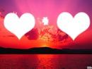 amoure au coucher de soleil