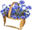 panier fleuri
