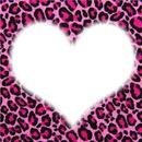 léopard rose coeur