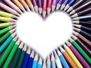 coeur crayon