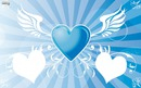 Coeur flottant dans les airs