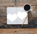 két kici szív,kávé