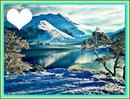 coeur des montagnes en neigé