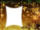 Cadre-papillons dorés