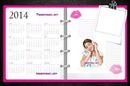 calendario 2014 violetta