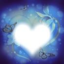 cadre coeur et papillons