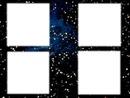 4 cadres fond galaxy