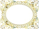 Cadre oval doré Frame