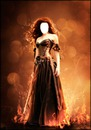 guerrera en llamas