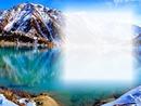 Paysage montagne enneigé
