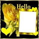 cadre fleure jaune
