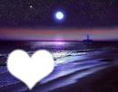 coucher soleil et nuit bleue
