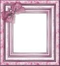 cadre rose avec noeud