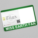 Miss Earth Fan Card