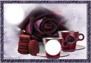 Tasses et rose
