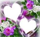 Coeurs d'amour fleuris