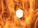 le feu dans les flammes
