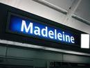 Panneau Station de Métro Madeleine