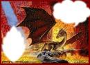 dragon dans feu