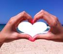 coeur àu plage