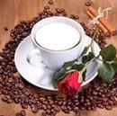 Kahve ve çiçek