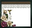 Cadre-colibri-roses