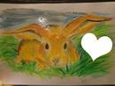 P'ti lapin dessiné par Gino Gibilaro avec coeur