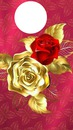 GOLD N RED ROSE