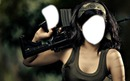 femme armée