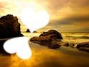 La plage avec 2 coeurs