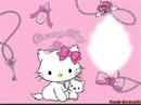 Helllo kity rose/blanc