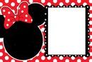 Moldura Minnie Vermelha
