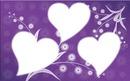 coeur fond violet