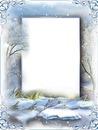 Cadre - paysage d'hiver