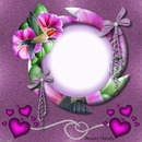 Corazones,circulo y flores