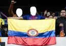 colombianos en el nou camp