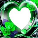 corazon verde transparente