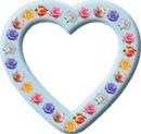 cadre coeur avec des roses pastels 1 photo