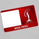Miss Peru card