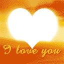 soleil en forme de coeur