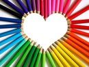 1 photo cadre coeur crayon