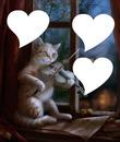gato romantico