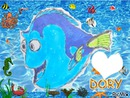 le monde de Dory de Walt Disney avec coeur dessiné par Gino Gibilaro